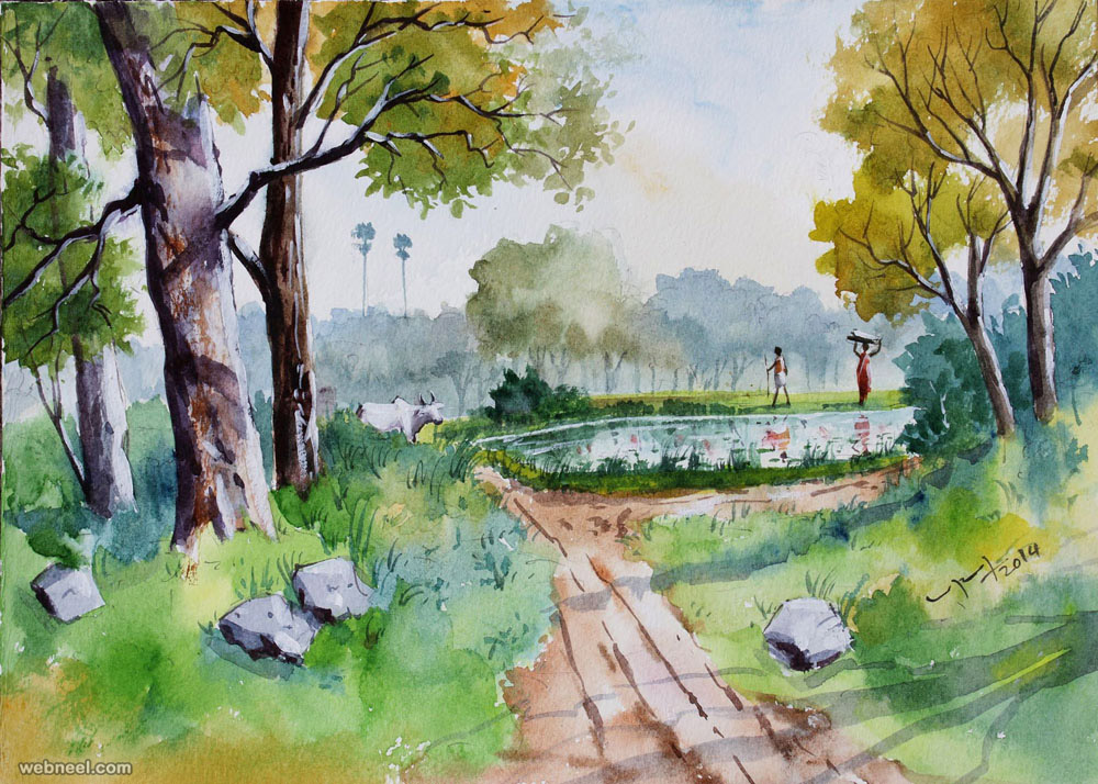 Watercolor paintings by balakrishnan 3 preview for Home painting images