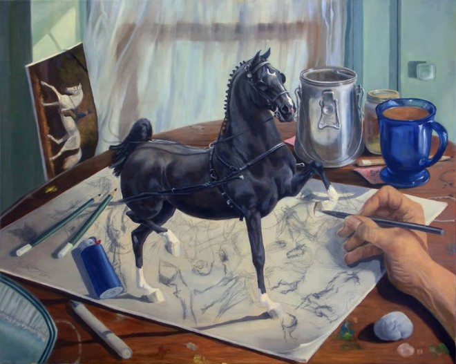 3d drawing horse by jeanne newton schoborg