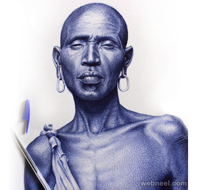 ballpoint pen art black - photo #47