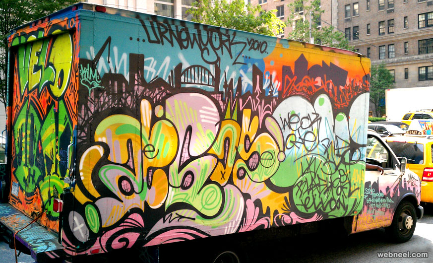 graffiti truck art