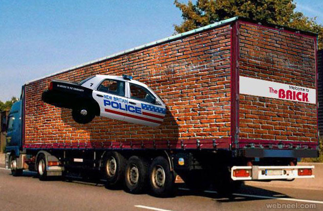 optical illusion truck art