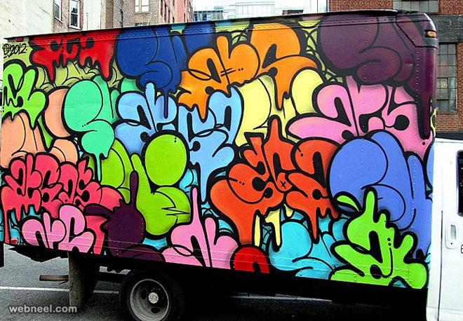 graffiti truck art by ur newyork