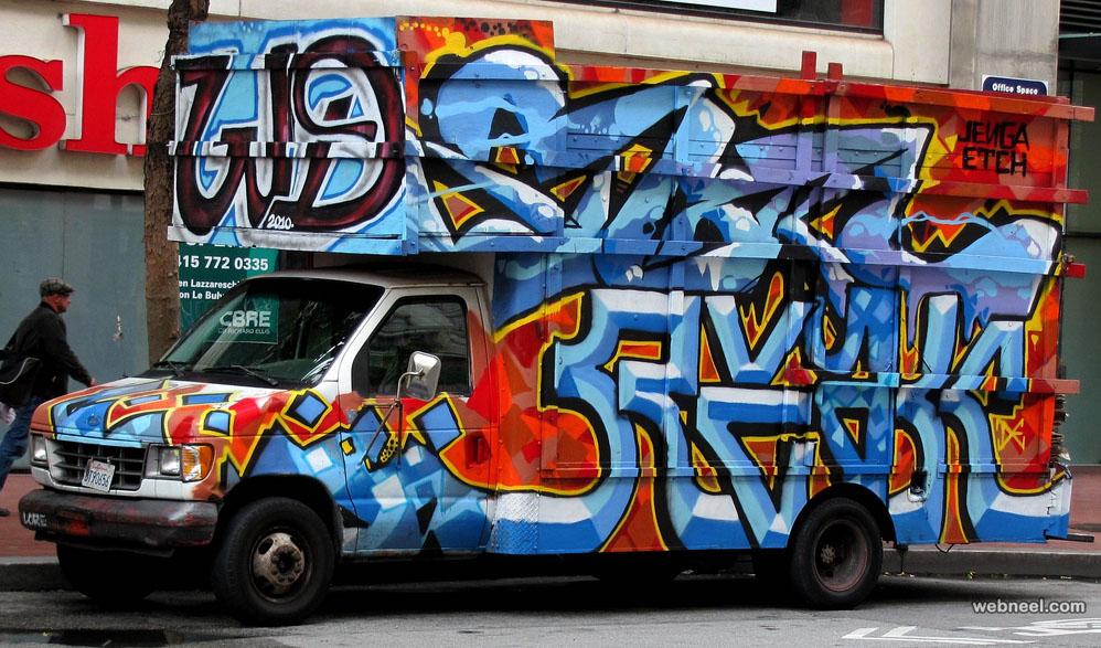 graffiti truck art