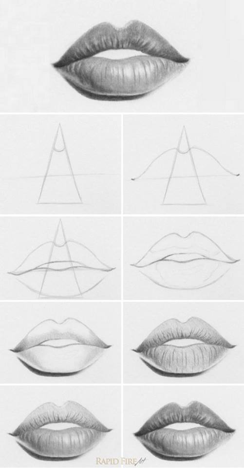 How to draw lips drawing Drawing