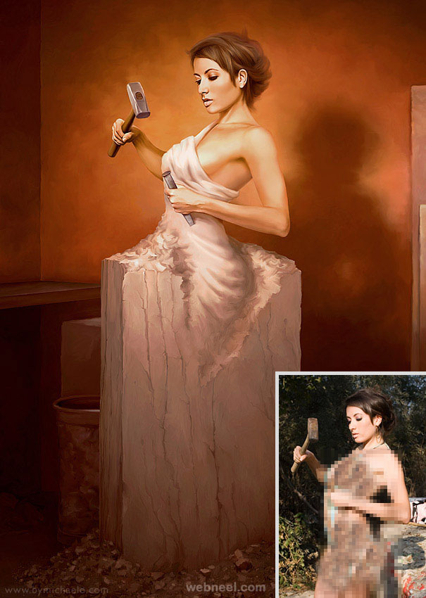 sculpture photo manipulation retouching