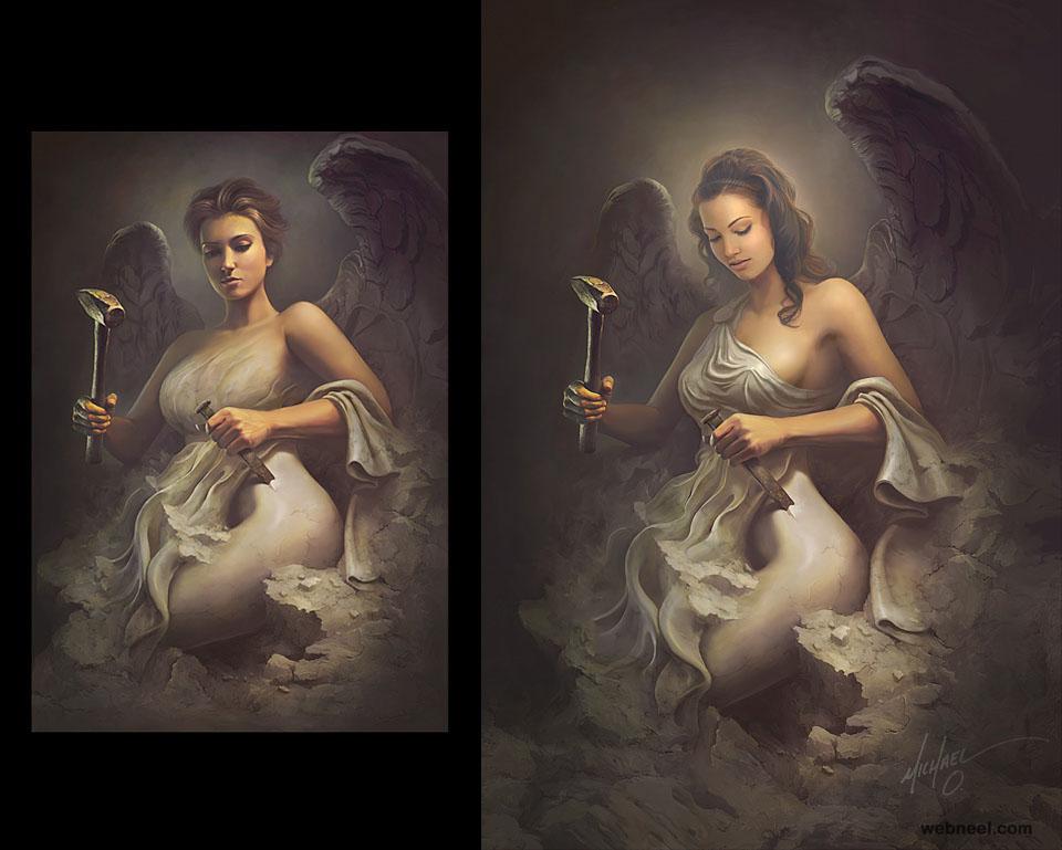 sculpture photo manipulation retouching by michael oswald