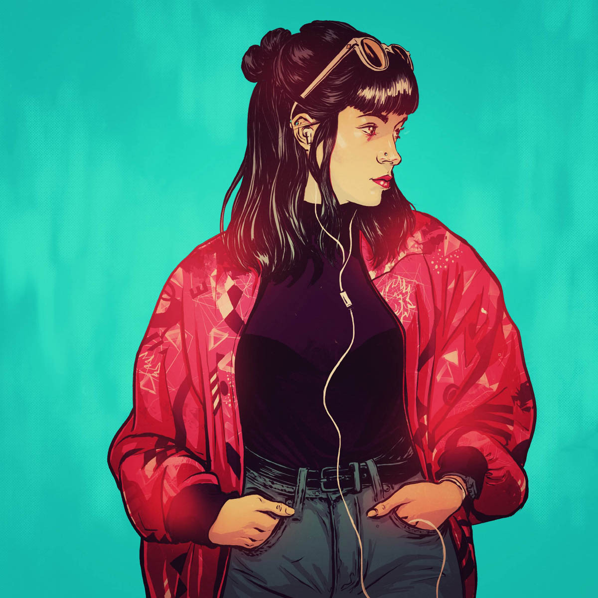 music procreate digital illustration app by raul allen