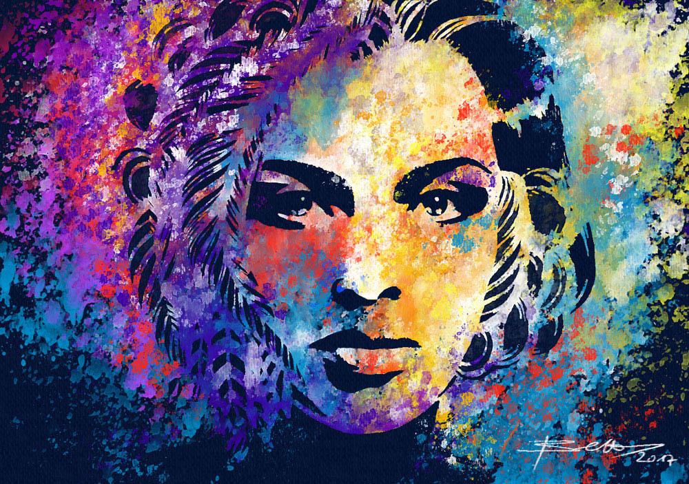 rebelle lady painting by peter blaskovic