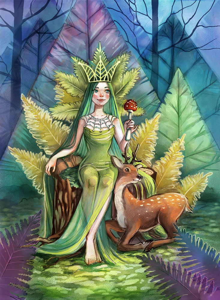 rebelle queen of moss paintng by kamila stankiewicz