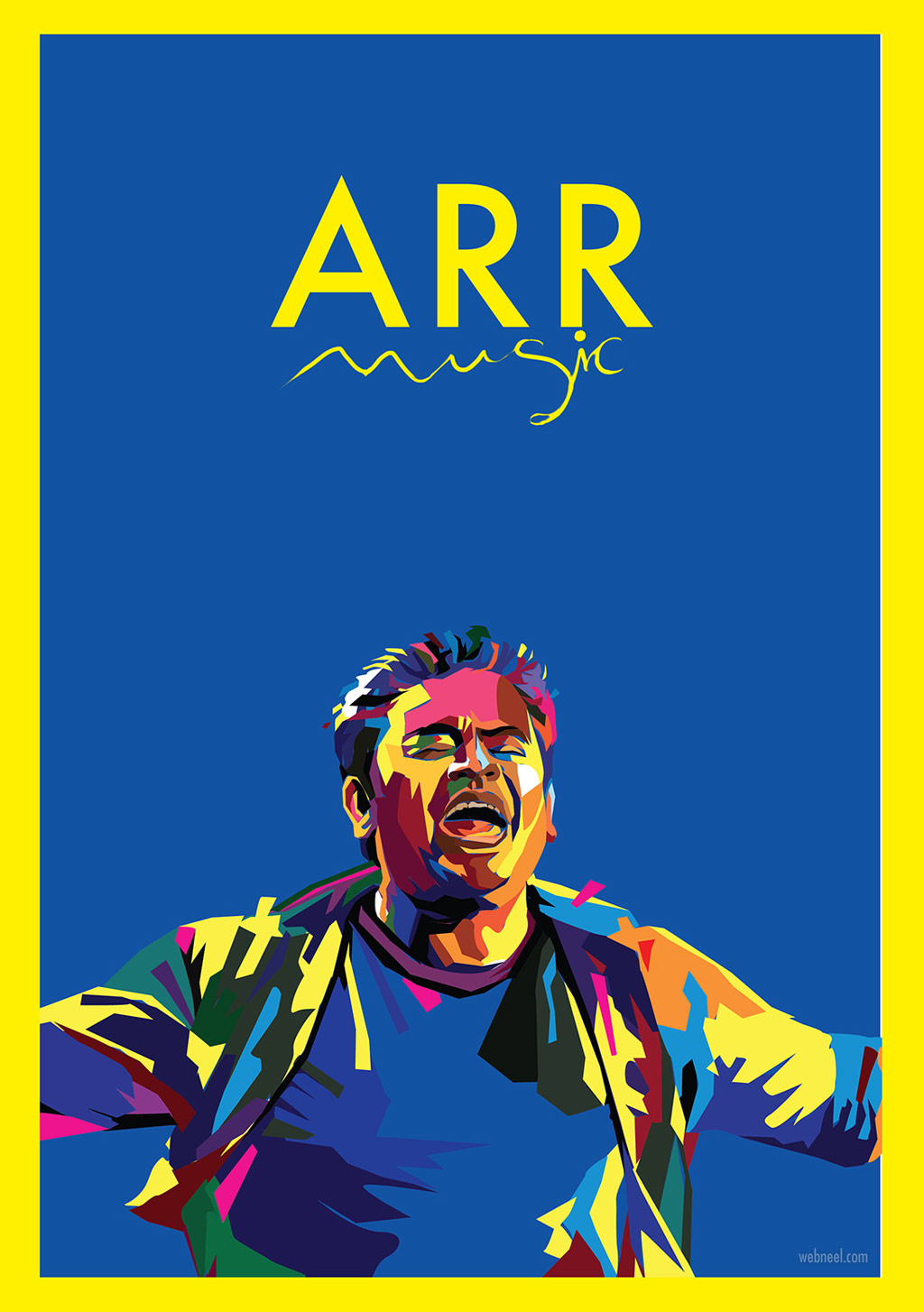 digital art vector illustration ar rahman musician