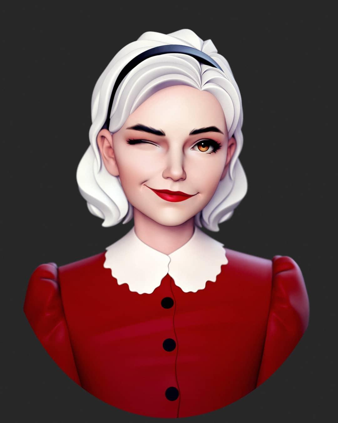 3d model character girl by yuriy moskvin