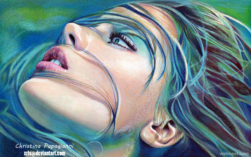 Color Portrait Drawings Colored Pencil Drawings