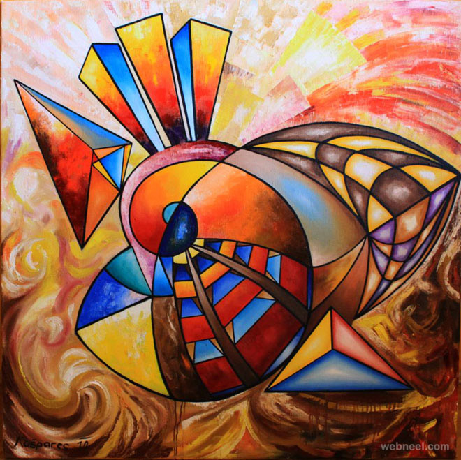 Colorful abstract painting by obraz 12 preview for Most beautiful abstract art