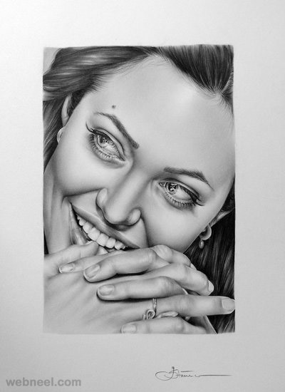 hyper realistic pencil drawing