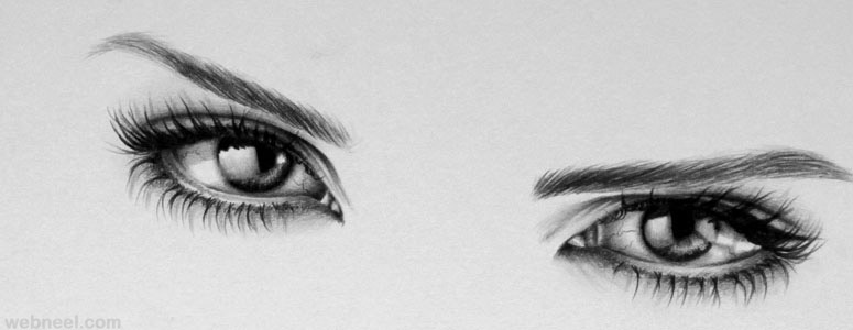 realistic eyes pencil drawing