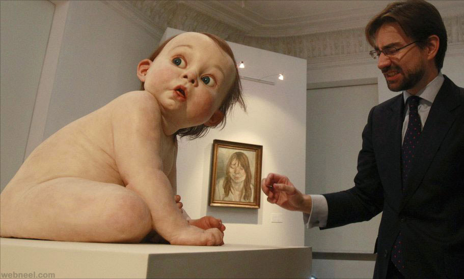 The Amazing Sculptures of Ron Mueck - YouTube
