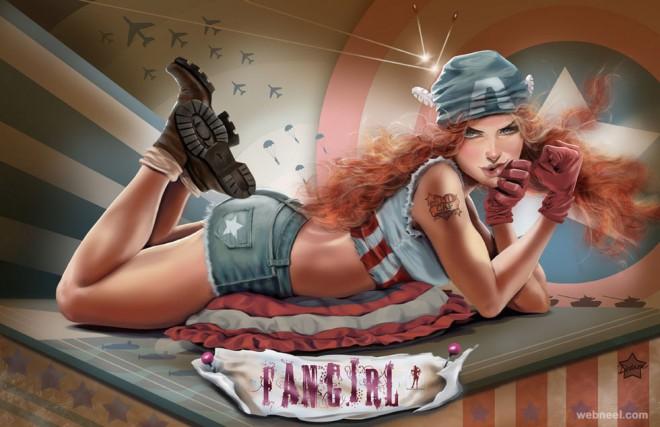 girl digital art by cris delara