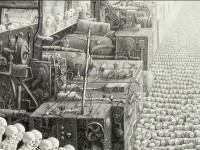 7-skull-surreal-drawing-by-laurie-lipton