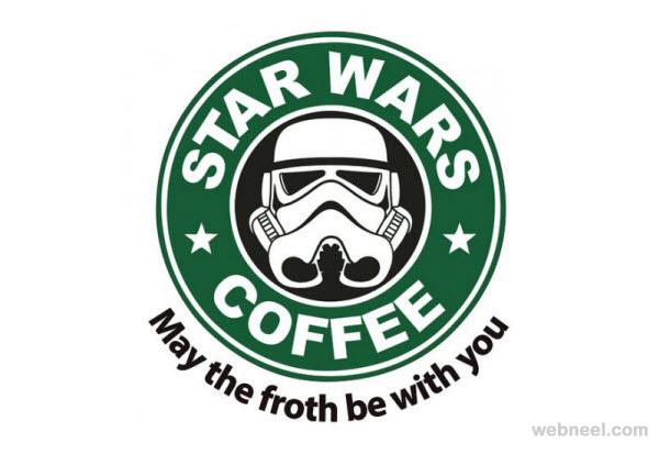 starbucks coffee star wars coffee logo parody 8