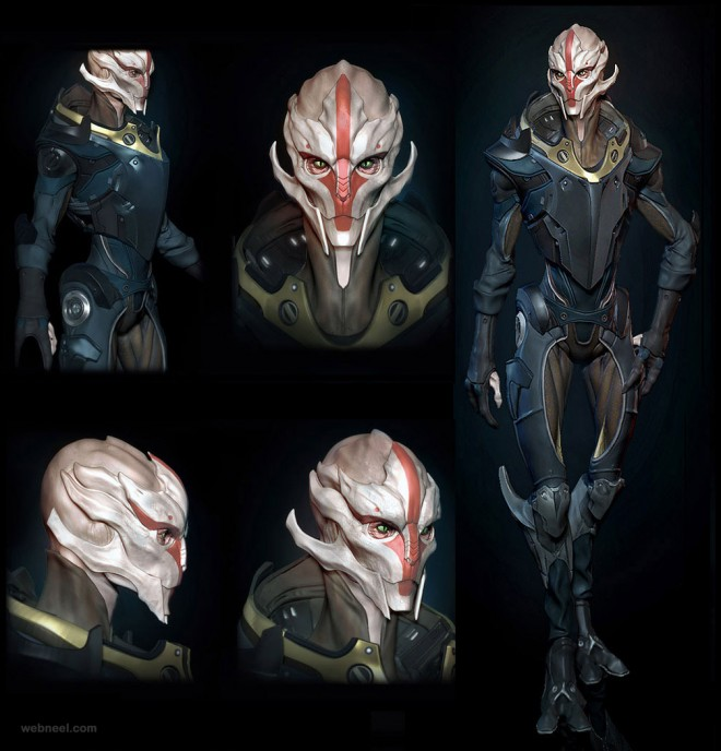 3d alien model design