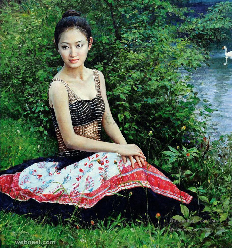 oil painting by guan zeju