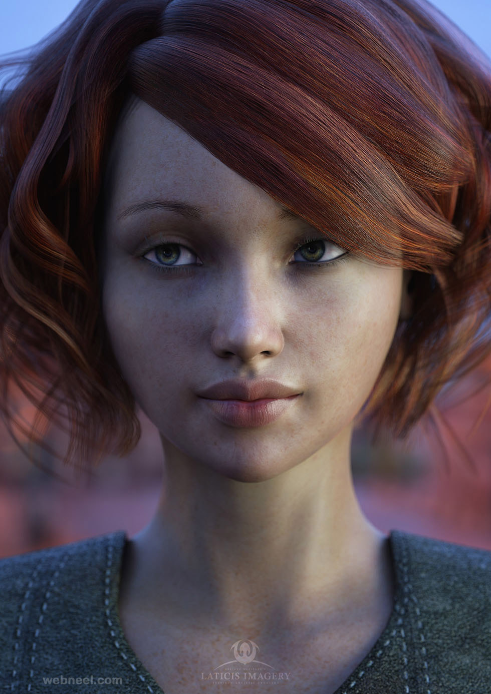 3d modelling girl woman
