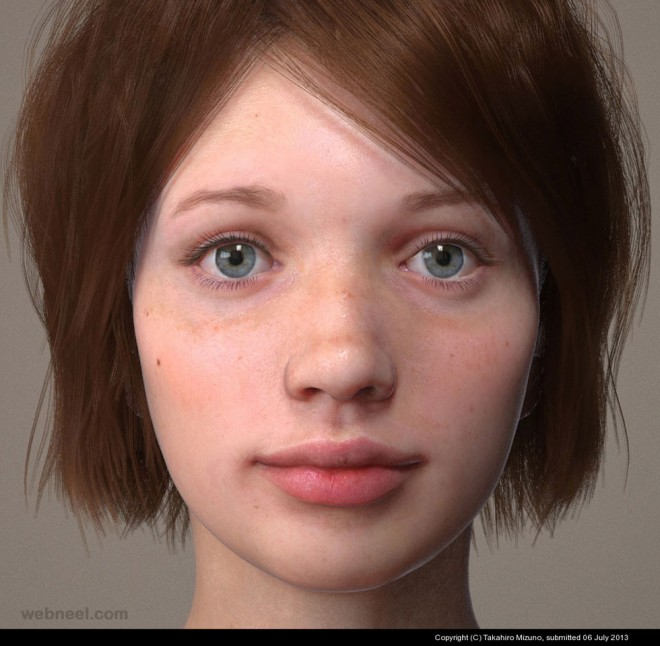 3d modelling woman girl by takahiro