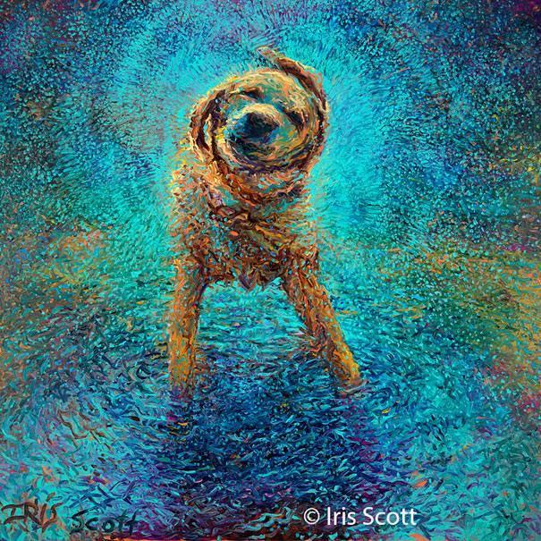 1 dog painting by Iris Scott