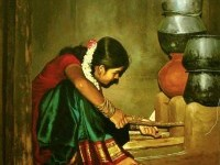 1-realistic-tamil-woman-painting-by-ilayaraja