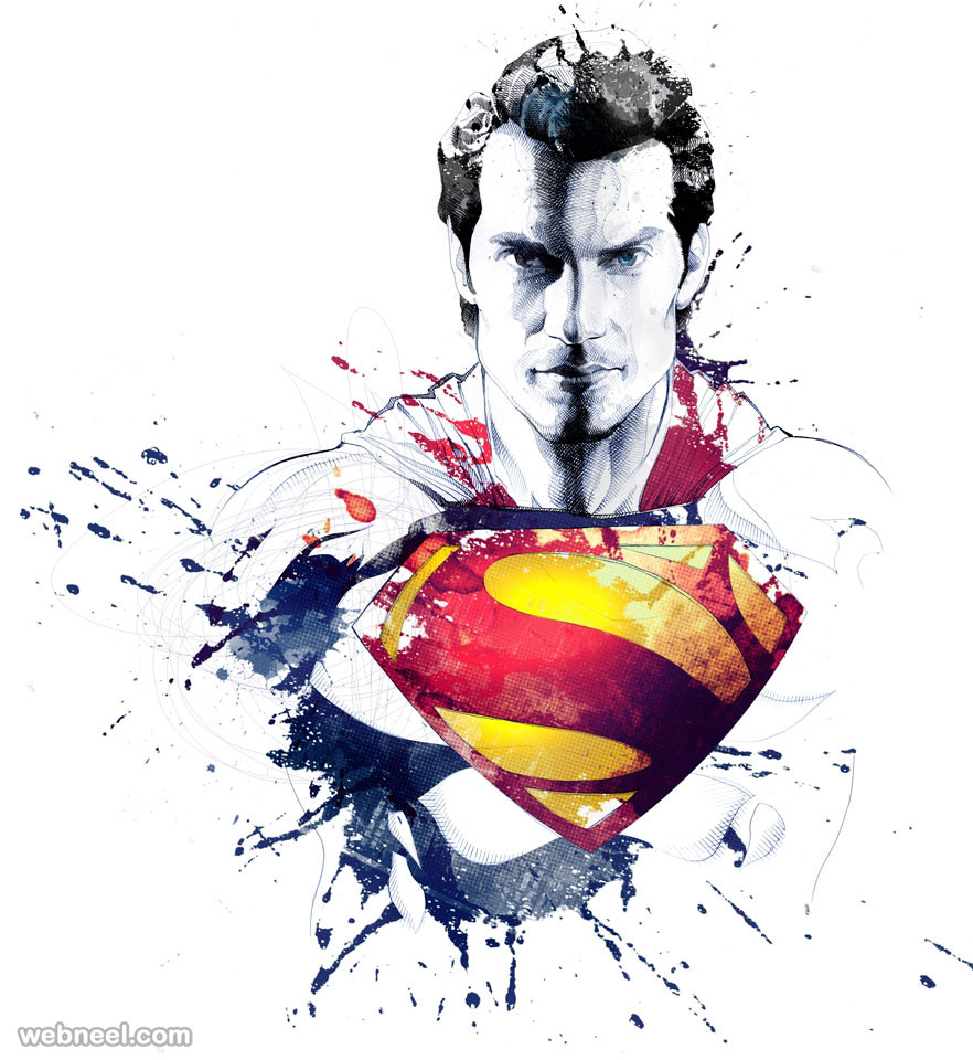 Superman creative art by david despau 1 preview for Creative painting by design