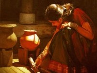 10-realistic-tamil-woman-painting-by-ilayaraja