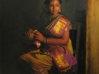 11-realistic-tamil-woman-painting-by-ilayaraja