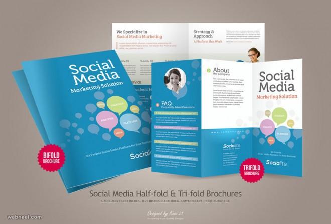 brochure design half fold kinzi