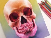 12-skull-color-pencil-drawing-by-morgan-davidson
