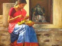 13-realistic-tamil-woman-painting-by-ilayaraja