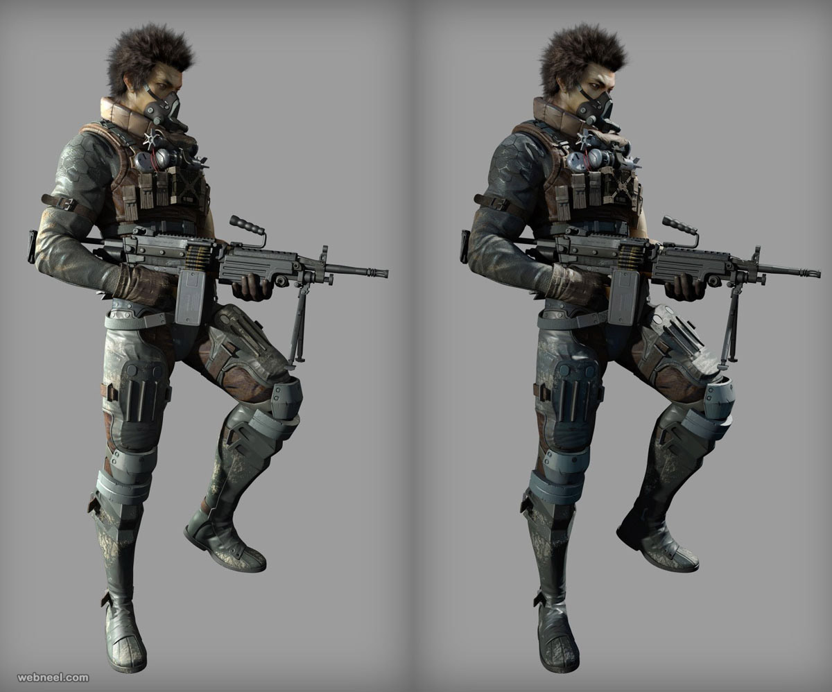3d game character by cgni school