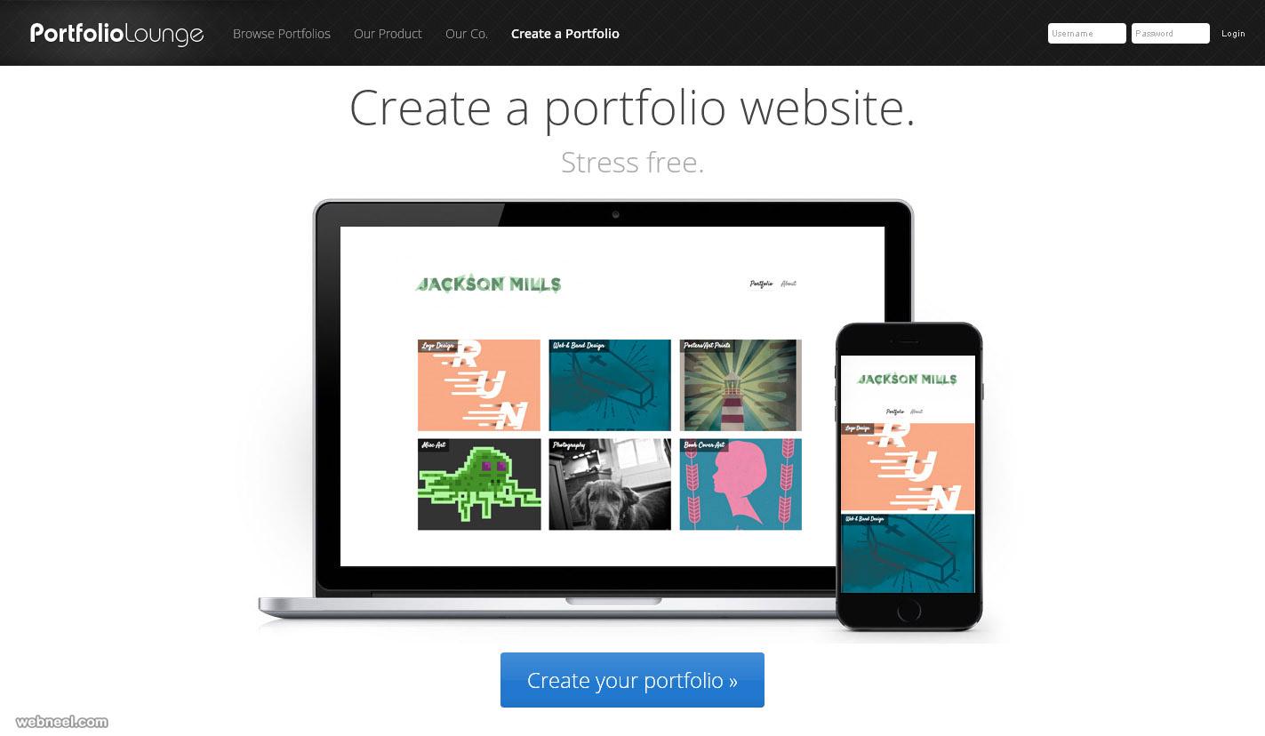 free websites portfoliolounge