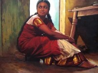 16-realistic-tamil-woman-painting-by-ilayaraja