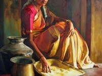 17-realistic-tamil-woman-painting-by-ilayaraja