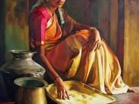 17-realistic-tamil-woman-painting-by-ilayaraja