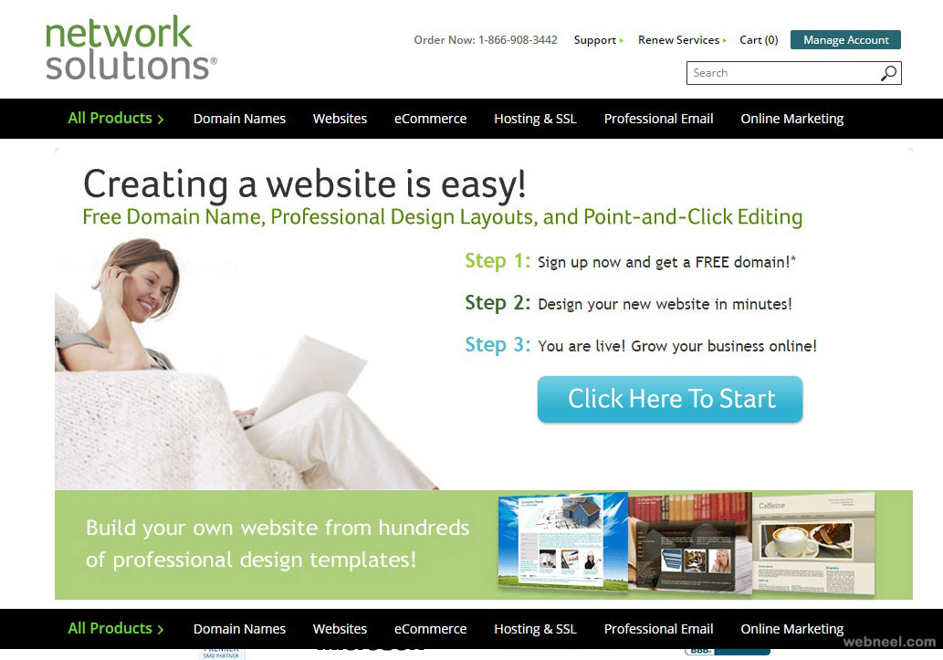 free websites network solutions