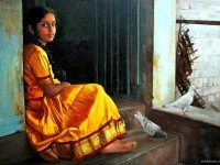 18-realistic-tamil-woman-painting-by-ilayaraja