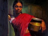 19-realistic-tamil-woman-painting-by-ilayaraja