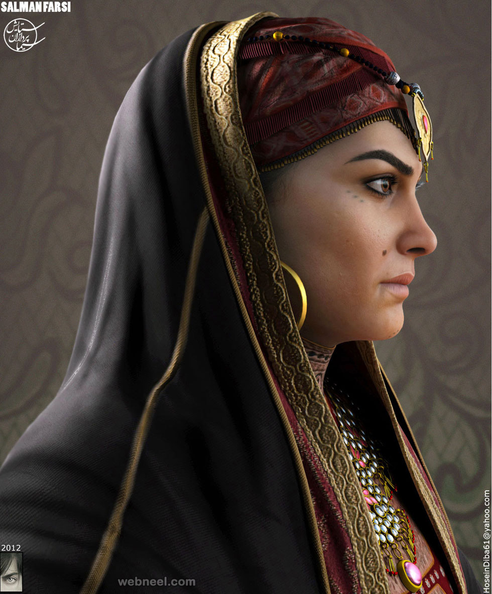arabian princess 3d model by hossein diba 2