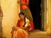 20-realistic-tamil-woman-painting-by-ilayaraja