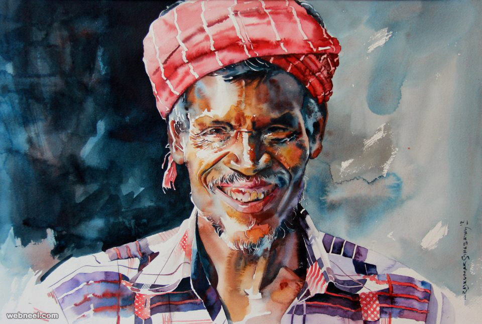 watercolor painting by rajkumar sthabathy