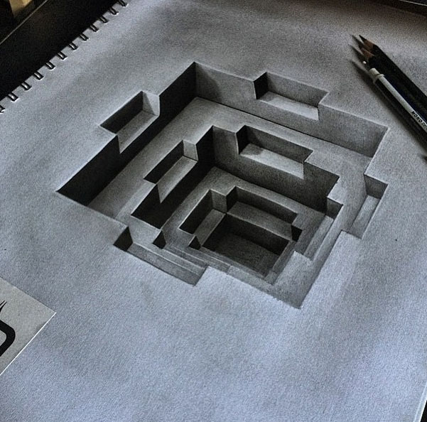3d pencild drawing by Dribblack