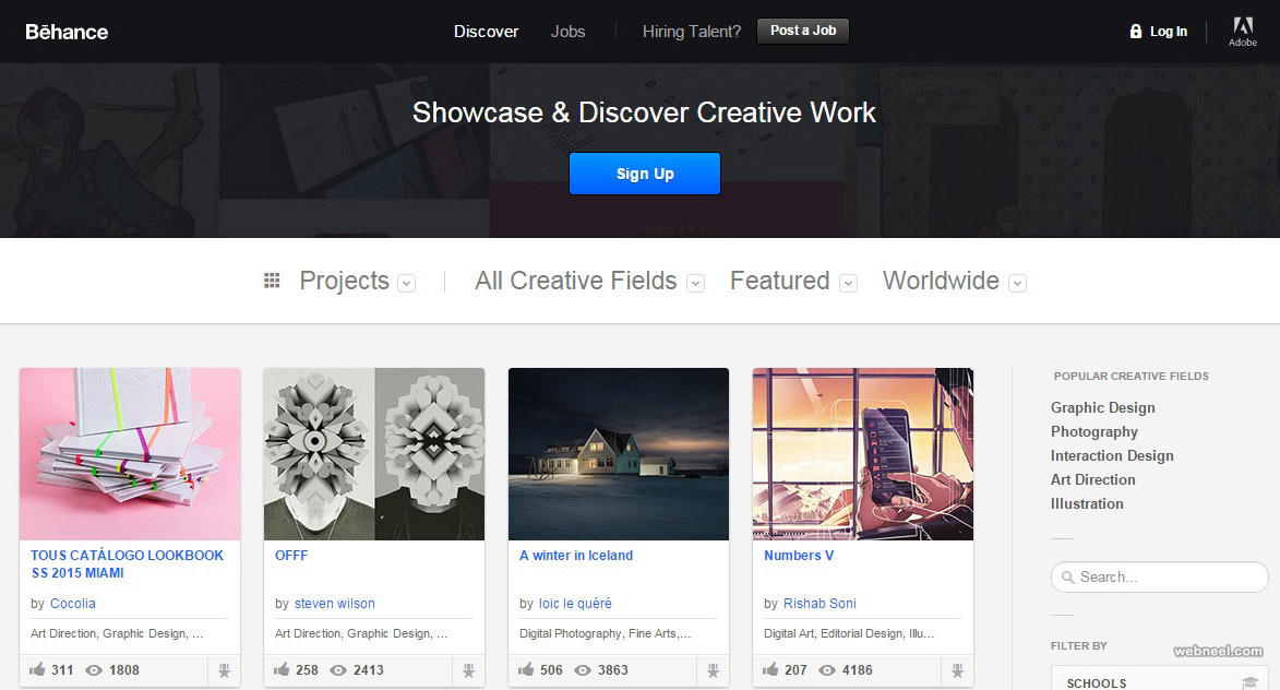 free website behance