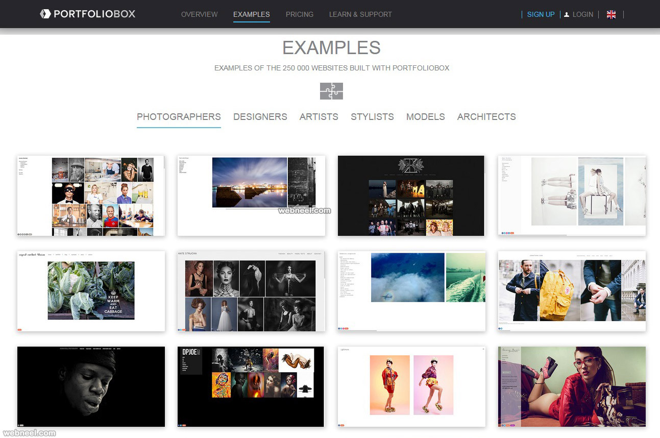 free website portfoliobox