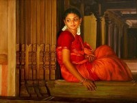 6-realistic-tamil-woman-painting-by-ilayaraja